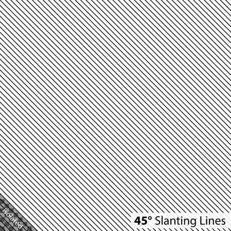 単純な 45 度の斜め線