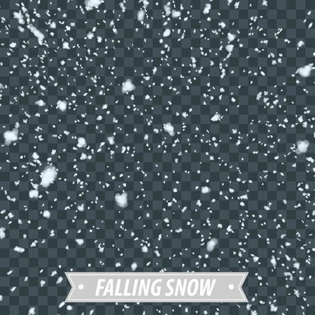 Isolated Heavy Snow Falling EPS10 Vector Vettoriali