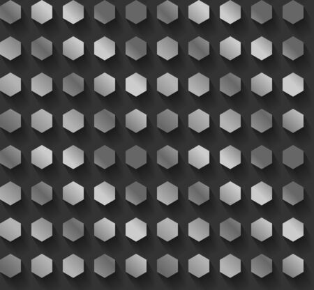 銀六角形パターン ベクトル EPS10  イラスト・ベクター素材