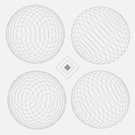Sphere Decorative Elements Set 2 white EPS10 Vector Иллюстрация