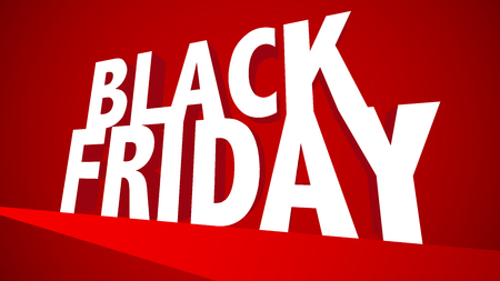 Black Firday EPS10 Vector Red Sale Banner