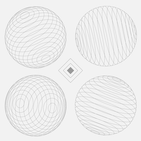 minimal: Decorative Elements Sphere Illustration