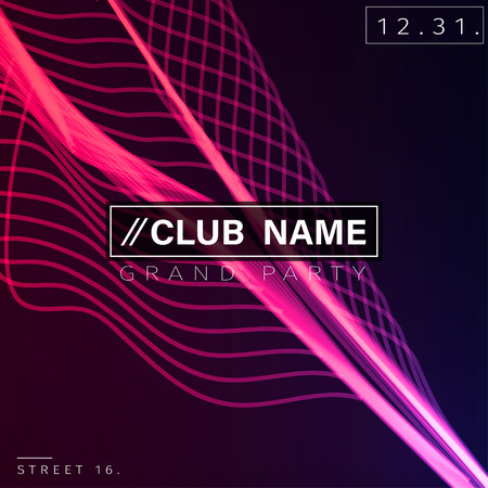 Club Party Poster Background Template Vector EPS10 Иллюстрация