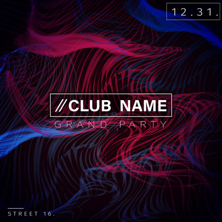 dj: Club Party Poster Background Template Vector EPS10 Illustration