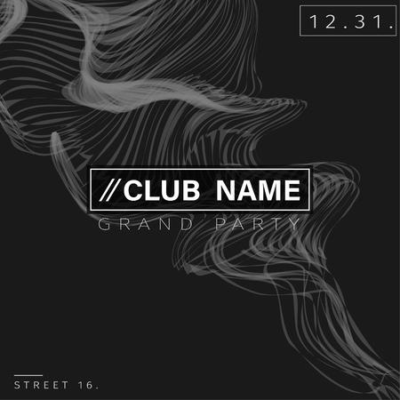 Club Party Poster Background Template Vector EPS10 Ilustração