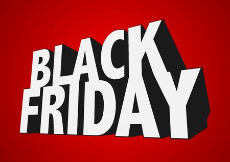 3D text EPS10 Vector Black Friday Sale Иллюстрация