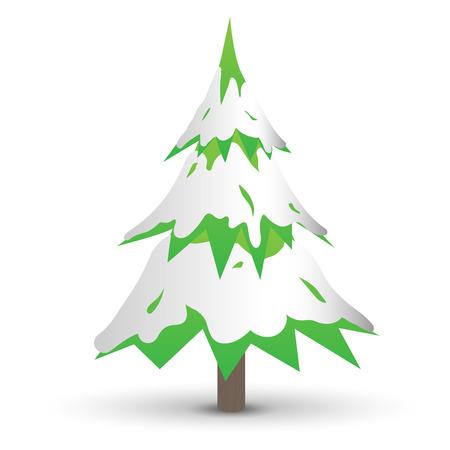 Christmas Tree on white background EPS10 Vector Иллюстрация