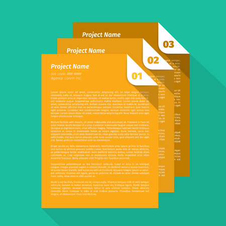 pm: Modern Layout Design, Project Management Brief EPS10 Vector