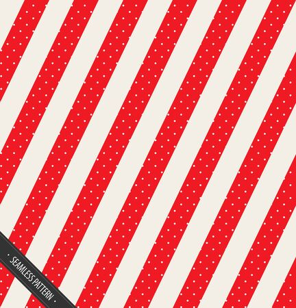 Seamless Winter Pattern Design. Red and White Lines Slating with snow EPS10 Vector