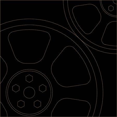 薄い裏地コグ EPS10 ベクトル  イラスト・ベクター素材