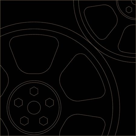 Thin lined cogs EPS10 Vector