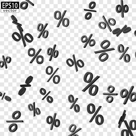 下落価格ベクトル EPS10 黒  イラスト・ベクター素材