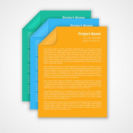モダンなレイアウト設計、プロジェクト管理の簡単な EPS10 ベクトル
