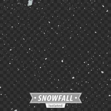 wintery: Isolated EPS10 Vector Snowfall