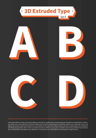 EPS10 Vector 3D Extruded Type