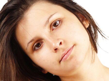 beautifull woman: melancolic beautifull woman portrait     Stock Photo