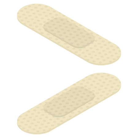 Vector isometric medical plaster for wounds and protection Standard-Bild - 112373976