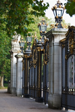 The Canada Gate, an entrance to the Green Park, one of the four central London Royal parks photo