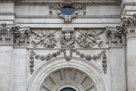 Exterior details of St.Paul's Cathedral, London, UK photo