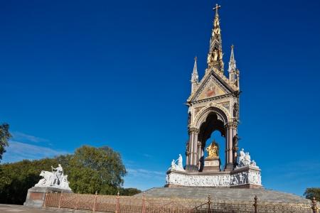 The Albert Memorial in Kensington Gardens, London, England