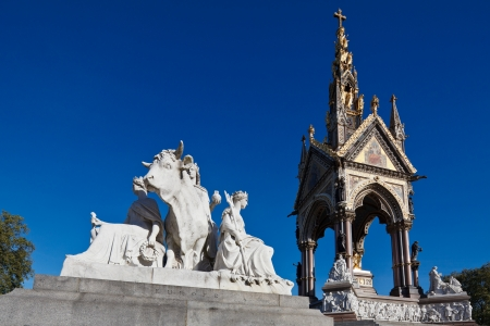 The Albert Memorial and Europe sculpture group in Kensington Gardens, London, England photo