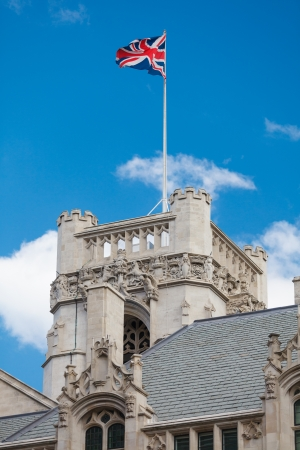 guildhall: The Middlesex Guildhall (Supreme Court) tower, London, UK Stock Photo
