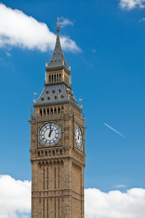 the palace of westminster: The Clock Tower that houses Big Ben bell,  Westminster Palace (Houses of Parliament), London, UK