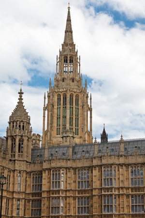 the palace of westminster: Central Tower of the Palace of Westminster (Houses of Parliament) in London, UK