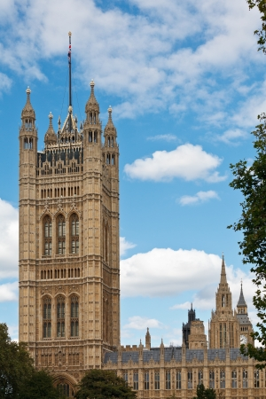 palace of westminster: Victoria Tower of the Palace of Westminster (Houses of Parliament), London, UK