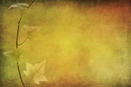 autumn background red yellow green plant