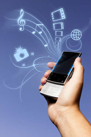 Mobile phone in hand Stock Photo - 9435676