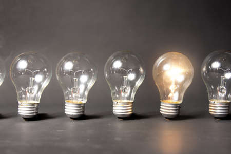 consulting concept: bright idea concept with light bulb