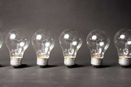bright idea concept with light bulb photo