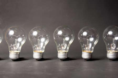 bright idea concept with light bulb photo