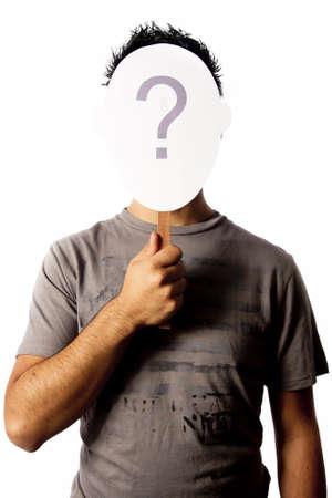 Identität Fragen Foto concept