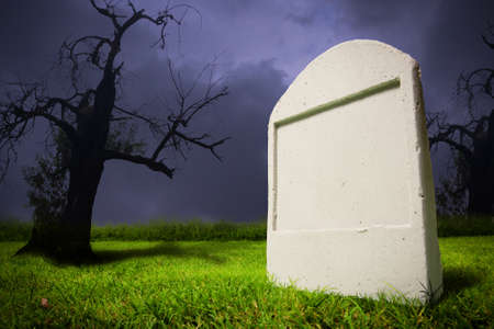 photo of graveyard at halloween photo