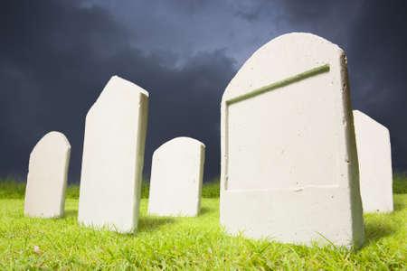 photo of graveyard at dark night photo