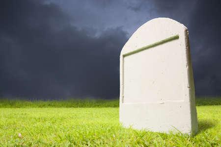 photo of graveyard at dark night