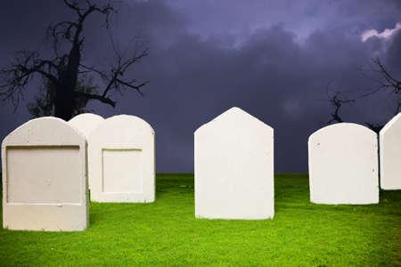 photo of graveyard at halloween