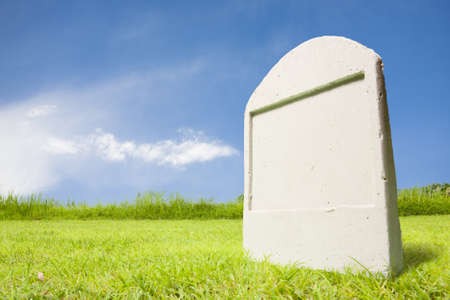 tombstone: photo of tombstone at day Stock Photo
