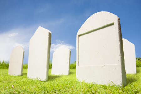 graves: photo of tombstones at day Stock Photo