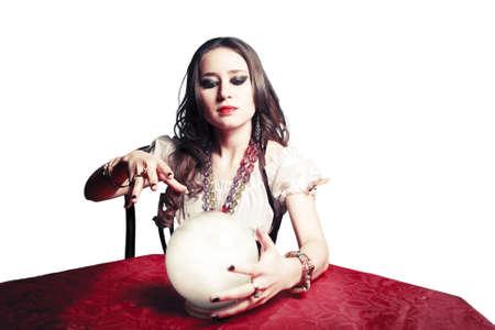 zigeunerin: Zigeunerin mit Kristallkugel