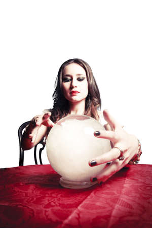 gypsy woman with crystal ball photo