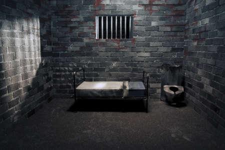 penitenciaria: celda oscura por la noche