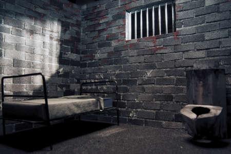 cellule prison: cellule de prison sombre la nuit