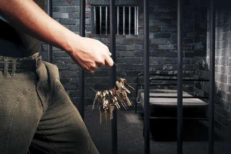 cella carcere: carcere cella buia di notte Archivio Fotografico