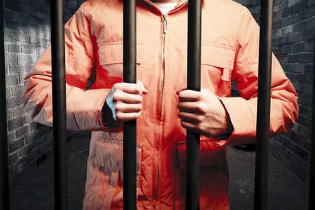 dunklen Gefängniszelle in der Nacht