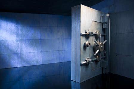 bank vault at night photo