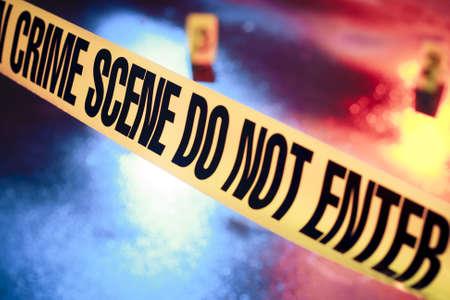 policier: photo d'une sc�ne de crime frais