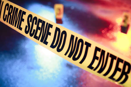 photo of a fresh crime scene Stock Photo - 12360079